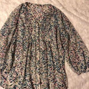 Multi-color polka dot blouse